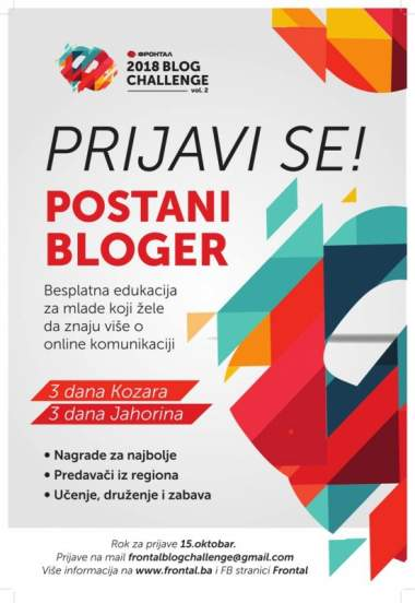Prijave do 15. oktobra: Počinje Frontal Blog Challenge vol.2